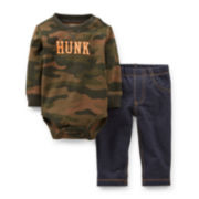 Carter's® Long-Sleeve Camo Hunk Bodysuit and Pants Set – Boys newborn-24m