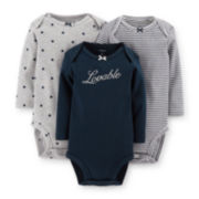 Carter's® 3-pk. Long-Sleeve Bodysuits – Girls newborn-24m