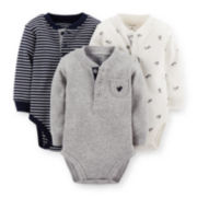 Carter's® 3-pk. Long-Sleeve Henley Thermal Bodysuits – Boys newborn-24m