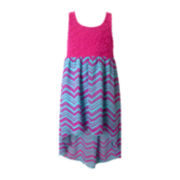 Pinky High-Low Maxi Dress - Girls 4-6x