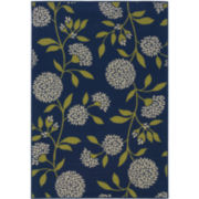 Pom-Pom Flowers Rectangular Rug