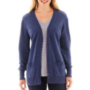 Liz Claiborne® Long-Sleeve Boyfriend Cardigan Sweater