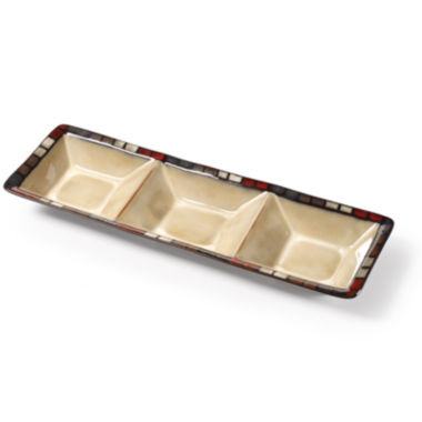 jcpenney.com | Pfaltzgraff® Calico 3-Section Serving Tray
