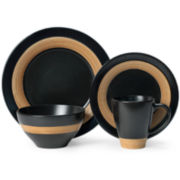 Pfaltzgraff® Concentric Black 16-pc. Dinnerware Set