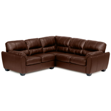 jcpenney.com | Leather Possibilities Pad-Arm 2-pc. Left-Arm Corner Sectional