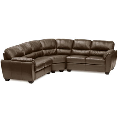 jcpenney.com | Leather Possibilities Pad-Arm 3-pc. Loveseat Sectional