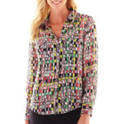 Liz Claiborne Long-Sleeve Blouse