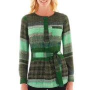 Liz Claiborne Long-Sleeve Tunic Blouse