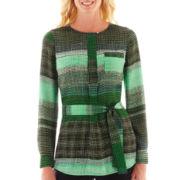 Liz Claiborne Long-Sleeve Tunic Blouse