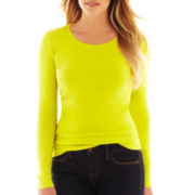 jcp™ Long-Sleeve Crewneck Tee - Tall