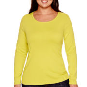 Stylus™ Long-Sleeve Crewneck T-Shirt - Plus