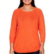Stylus™ Long-Sleeve Swing Sweater - Plus