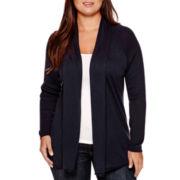 Stylus™ Long-Sleeve Flyaway Cardigan Sweater - Plus