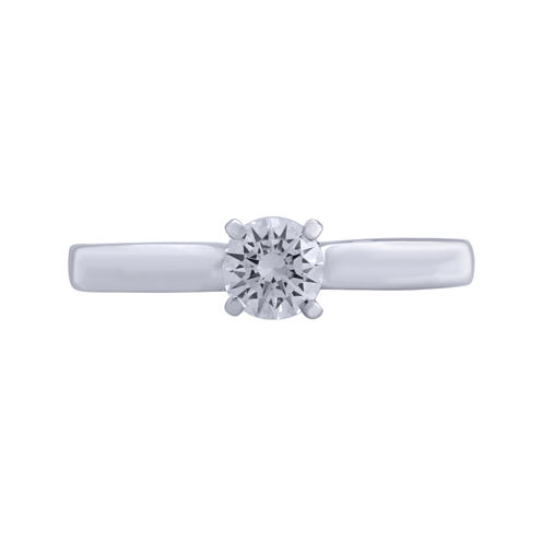 Opulent Diamond 1/2 CT. T.W. Certified Diamond 14K White Gold Solitaire Ring