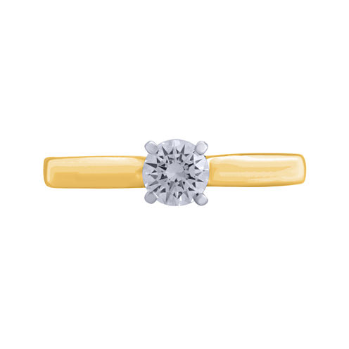 Opulent Diamond 1/2 CT. T.W. Certified Diamond 14K Yellow Gold Solitaire Ring