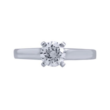 jcpenney.com | Opulent Diamond 1 CT. T.W. Certified Diamond 14K White Gold Solitaire Ring