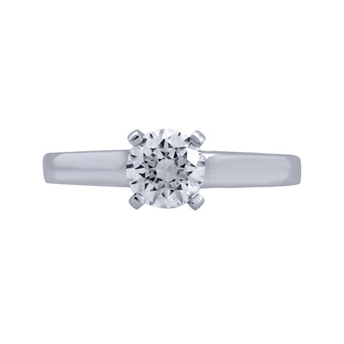 Opulent Diamond 1 CT. T.W. Certified Diamond 14K White Gold Solitaire Ring