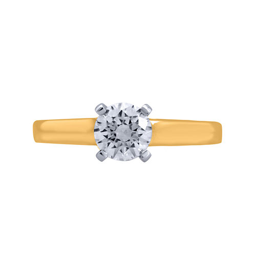 Opulent Diamond 1 CT. T.W. Certified Diamond 14K Yellow Gold Solitaire Ring