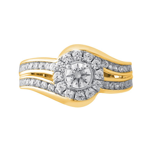 Opulent Diamond 1 CT. T.W. Certified Diamond 14K Yellow Gold Bypass Ring