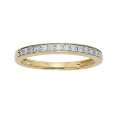 jcpenney.com | 1/4 CT. T.W. Certified Diamond Single-Row Yellow Gold Wedding Band