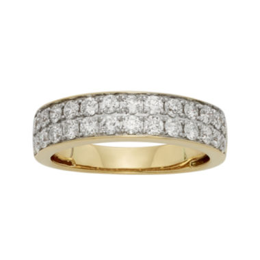 jcpenney.com | 1 CT. T.W. Certified Diamond Double-Row Yellow Gold Wedding Band