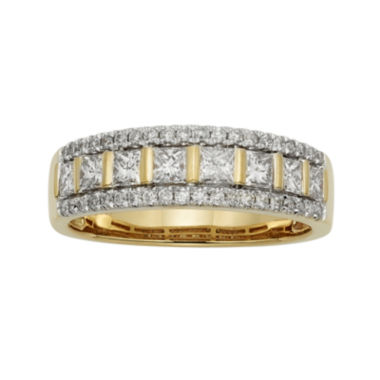 jcpenney.com | 1 CT. T.W. Certified Diamond 14K Yellow Gold Celebration Band