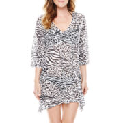 Porto Cruz® Burnout Sharkbite Tunic Cover-Up