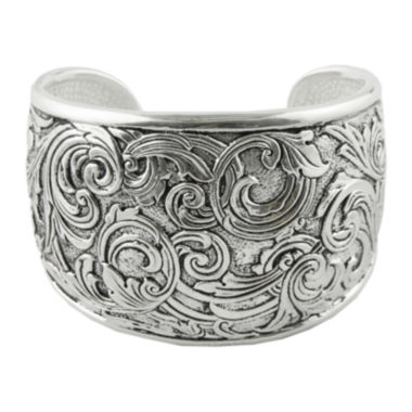 jcpenney.com | Art Smith by BARSE Textured Oxidized Silver-Plated Cuff Bracelet