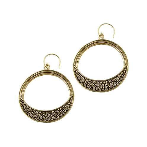 Art Smith by BARSE Textured Bronze Hoop Earrings