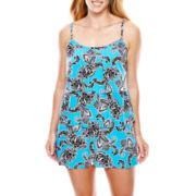 Jamaica Bay® Paisley Print Triple-Tier 1-Piece Swimdress - Plus