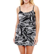Jamaica Bay® Print Triple-Tier 1-Piece Swimdress - Plus