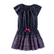 OshKosh B'gosh® Navy Print Dress - Toddler Girls 2t-5t