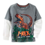 OshKosh B'gosh® Long-Sleeve T-Rex Graphic Tee - Boys 4-14