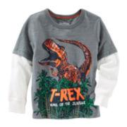 OshKosh B'gosh® Long-Sleeve T-Rex Graphic Tee - Boys 4-14