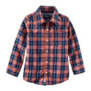 OshKosh B'gosh® Plaid Button-Front Shirt - Toddler Boys 2t-5t