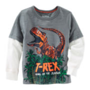 OshKosh B'gosh® Long-Sleeve T-Rex Graphic Tee - Toddler Boys 2t-5t