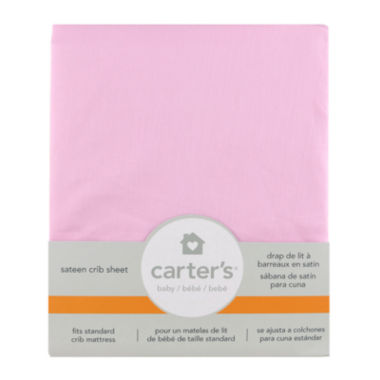 jcpenney.com | Carter's® Fitted Sateen Crib Sheet - Pink