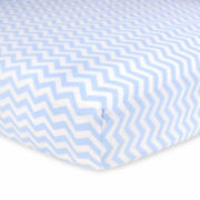 Carter's® Fitted Crib Sheet - Blue Chevron