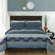 Block Print 3-pc. Reversible Quilt Set