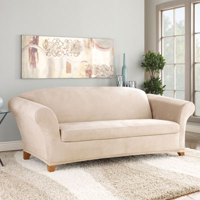 SURE FIT® Stretch Faux Suede 2 Pc. Sofa Slipcover