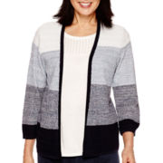 Alfred Dunner 3/4-Sleeve Ombré Layered Sweater