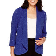 Alfred Dunner® Keep It Modern 3/4-Sleeve Sequin Bouclé Blazer