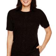 Alfred Dunner® Keep It Modern Short-Sleeve Sweater Shell