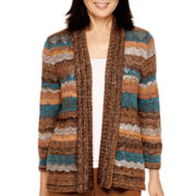 Alfred Dunner® Colorado Springs 3/4-Sleeve Spacedye Cardigan Sweater