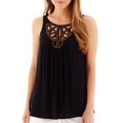 a.n.a® Embellished Peasant Tank Top