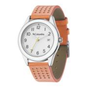 Columbia Sportswear Co.® Bahama Womens Orange Leather Strap Sport Watch