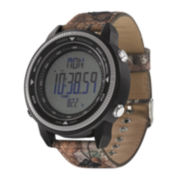 Columbia Sportswear Co.® Switchback Mens Camo Canvas Strap Compass Sport Watch