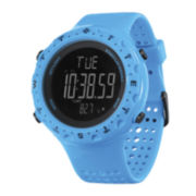 Columbia Sportswear Co.® Singletrak Mens Blue Silicone Strap Compass Sport Watch