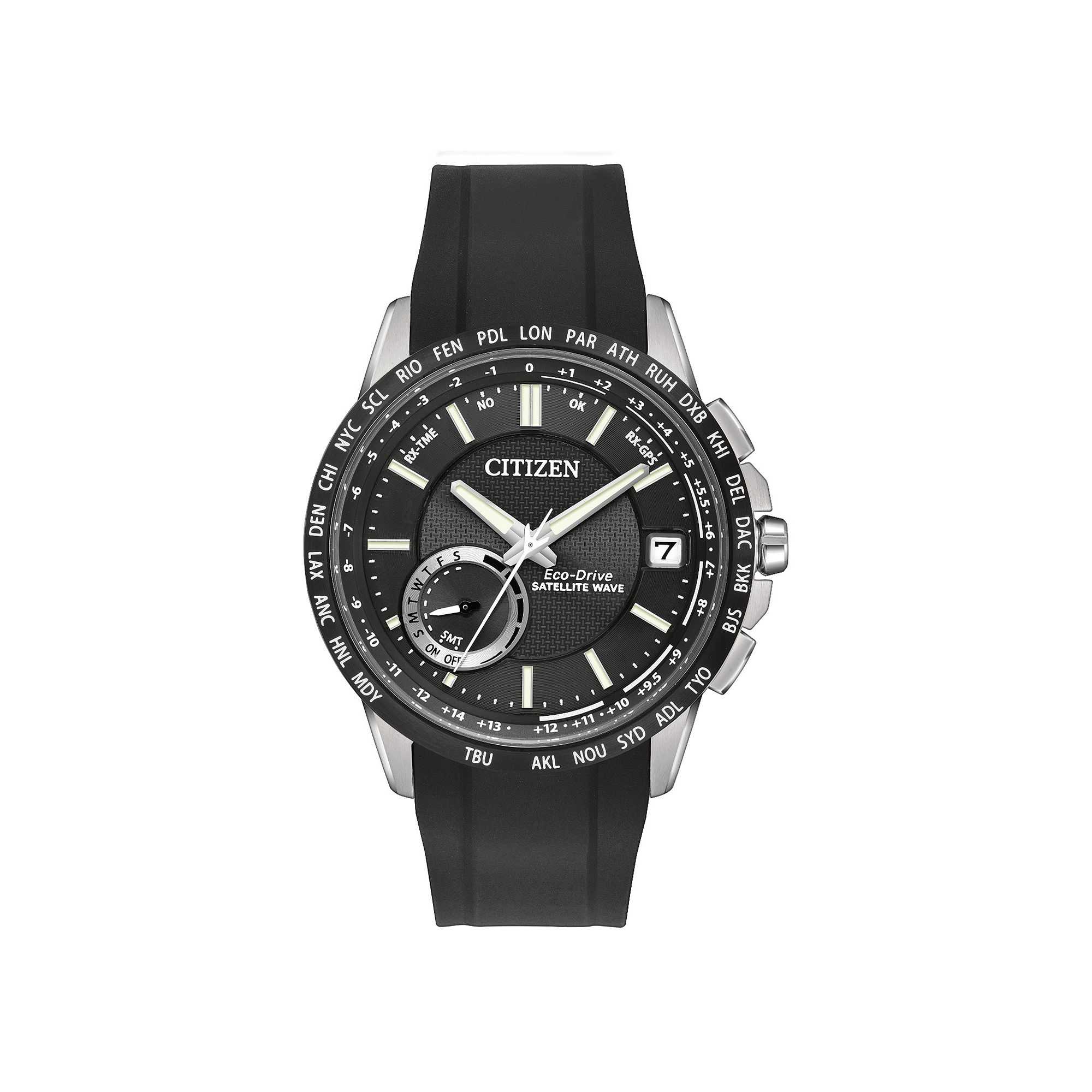 Citizen Eco-Drive Satellite Wave-World Time GPS Mens Watch CC3005-00E