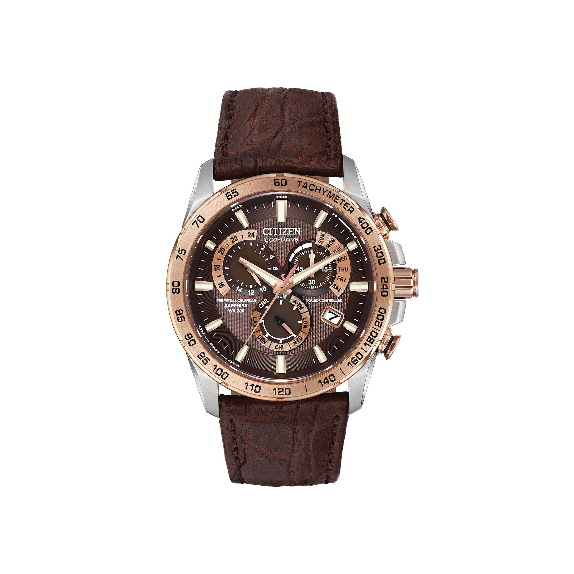 Citizen Eco-Drive Perpetual Chrono A-T Mens Limited Edition Watch AT4001-00X